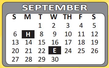 ... School Academic Calendar for Gillette Elementary for September 2015