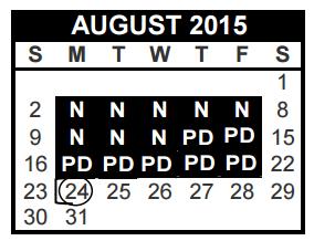 Bedford Junior High - School District Instructional Calendar