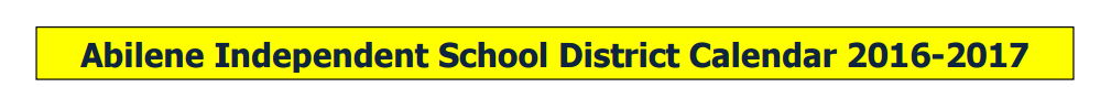 District School Academic Calendar for Dyess Elementary