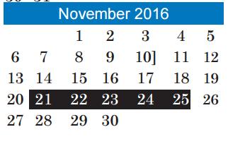 Andrews Elementary School District Instructional Calendar Austin