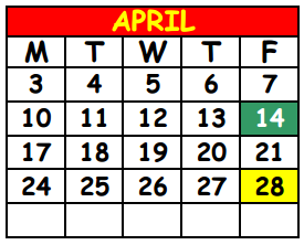 District School Academic Calendar for Lake Shore Middle School for April 2017