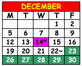 District School Academic Calendar for Lake Shore Middle School for December 2016