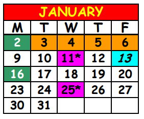 District School Academic Calendar for Lake Shore Middle School for January 2017