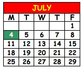 District School Academic Calendar for Lake Shore Middle School for July 2016