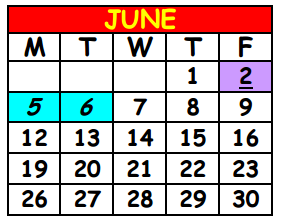 District School Academic Calendar for Lake Shore Middle School for June 2017