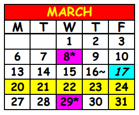 District School Academic Calendar for Lake Shore Middle School for March 2017