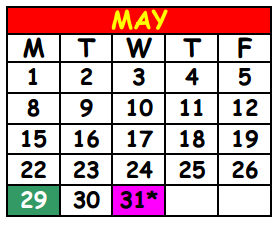 District School Academic Calendar for Lake Shore Middle School for May 2017
