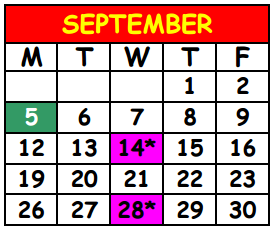District School Academic Calendar for Lake Shore Middle School for September 2016