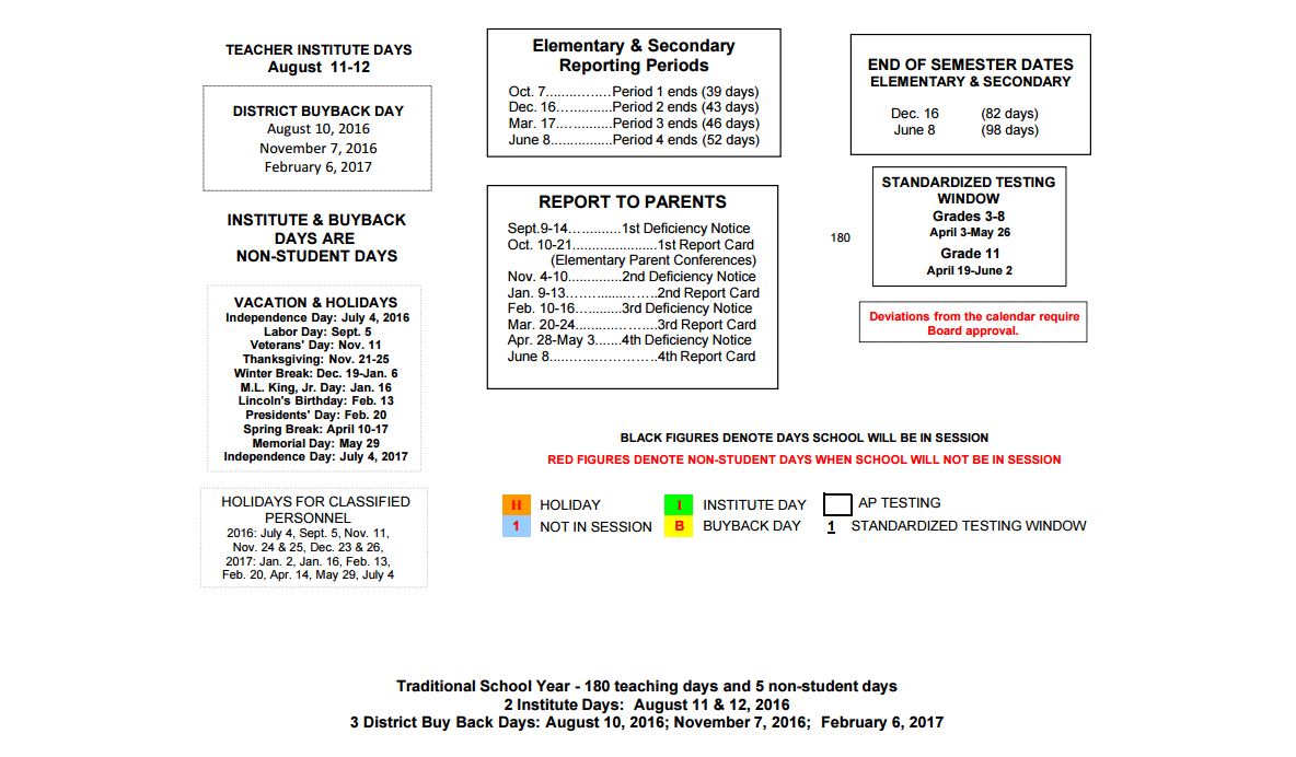 Heaton Elementary School District Instructional Calendar Fresno