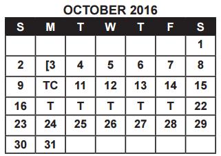 District School Academic Calendar for Ball High School for October 2016