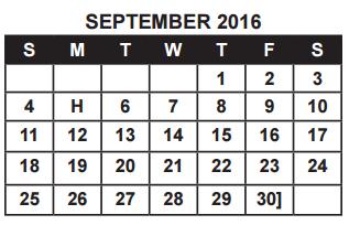 District School Academic Calendar for Ball High School for September 2016