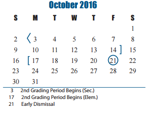 Seven Lakes High School - School District Instructional Calendar