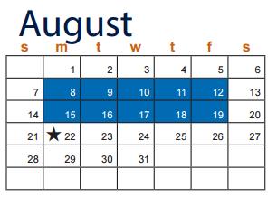 Nolan Middle School School District Instructional Calendar