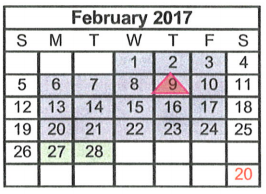 Midway High School - School District Instructional Calendar - Midway