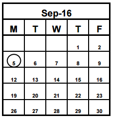 District School Academic Calendar for Highland Lakes Elementary School for  September 2016