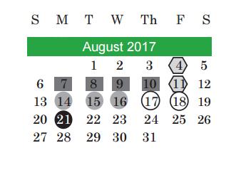 Kealing M S School District Instructional Calendar Austin Isd