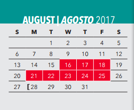 J D C (n & D) - School District Instructional Calendar - Dallas ...