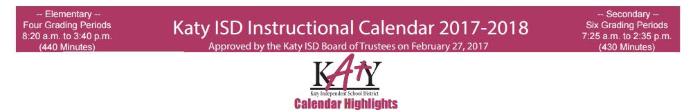 Garland Mcmeans Jr High School District Instructional Calendar
