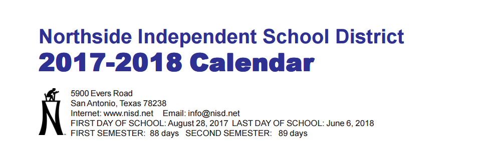 Ott Elementary School School District Instructional Calendar