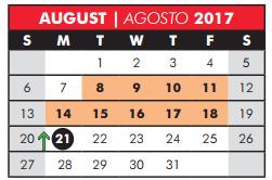 C M Rice Middle - School District Instructional Calendar - Plano Isd