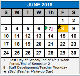 last day of school 2018