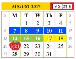 2018 17 academic calendar