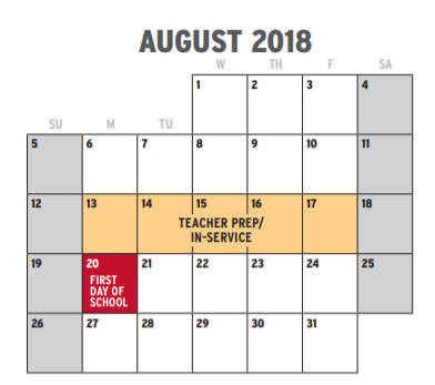 Fort Worth Calendar 2019 Westcreek Elementary   School District Instructional Calendar