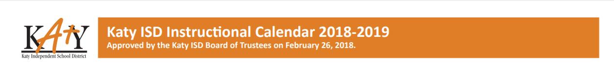 Morton Ranch High School School District Instructional Calendar