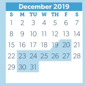 Conroe Isd Calendar 2019 2020.Armstrong Elementary School District Instructional Calendar