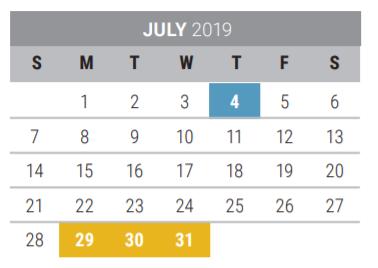 Frisco Isd 2020 Calendar Frisco High School   School District Instructional Calendar