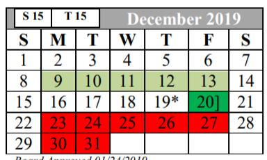 Judson Isd Calendar 2020 Hopkins Elementary   School District Instructional Calendar