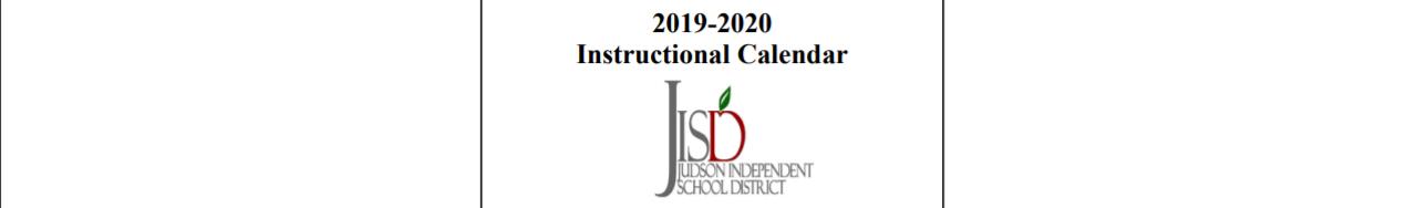 Judson Isd Calendar 2020 Judson High School   School District Instructional Calendar