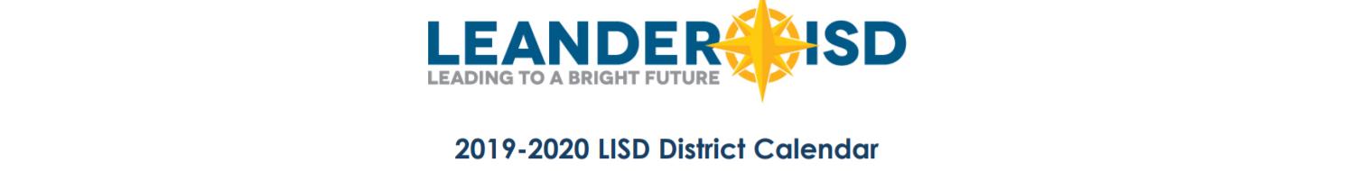 Lisd Calendar 2020.Cypress Elementary School School District Instructional Calendar