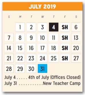 Mesquite Isd Calendar 2020 Hodges Elementary   School District Instructional Calendar