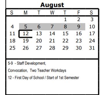 Saisd Calendar 2020 Foster Elementary   School District Instructional Calendar   San