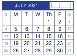 John B Alexander High School 2021 2022 Academic Calendar For July 2021 3600 E Del Mar Laredo Tx 78041 2499
